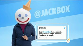 Jack in the Box Spicy Chicken Strips Combo TV Spot, 'So Many Tweets' - Thumbnail 2