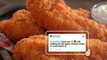 Jack in the Box Spicy Chicken Strips Combo TV Spot, 'So Many Tweets' - Thumbnail 3