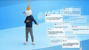 Jack in the Box Spicy Chicken Strips Combo TV Spot, 'So Many Tweets'