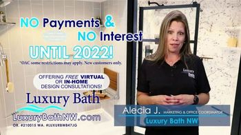 Luxury Bath TV Spot, 'No Payments Until 2022 and $1,000 Off'