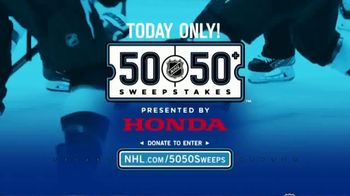 The National Hockey League 50-50+ Sweepstakes TV Spot, 'One Day Only' - Thumbnail 1