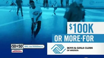 The National Hockey League 50-50+ Sweepstakes TV Spot, 'One Day Only'