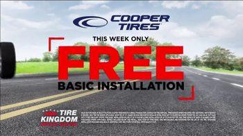 Tire Kingdom Big Brands Bonus Month TV Spot, 'Cooper Tires: Free Installation' - Thumbnail 7
