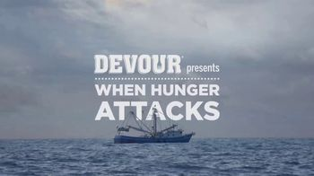 DEVOUR Foods White Cheddar Mac & Cheese With Bacon TV Spot, 'When Hunger Attacks: Open Seas'