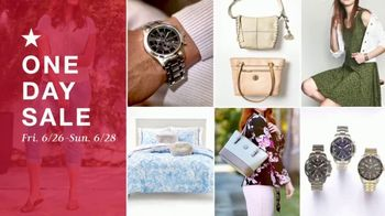Macy's One Day Sale TV Spot, 'Dresses, Sandals and Swim' - Thumbnail 1