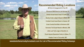 Best of America by Horseback TV Spot, 'Recommended Riding Getaways' - Thumbnail 9