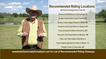 Best of America by Horseback TV Spot, 'Recommended Riding Getaways' - Thumbnail 1