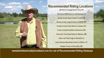 Best of America by Horseback TV Spot, 'Recommended Riding Getaways' - Thumbnail 2