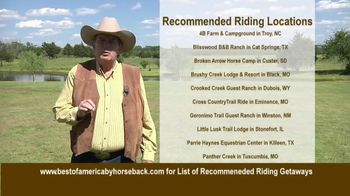 Best of America by Horseback TV Spot, 'Recommended Riding Getaways' - Thumbnail 3
