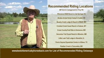 Best of America by Horseback TV Spot, 'Recommended Riding Getaways' - Thumbnail 4