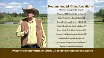 Best of America by Horseback TV Spot, 'Recommended Riding Getaways' - Thumbnail 5