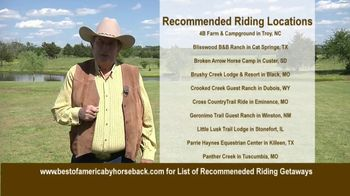 Best of America by Horseback TV Spot, 'Recommended Riding Getaways' - Thumbnail 7