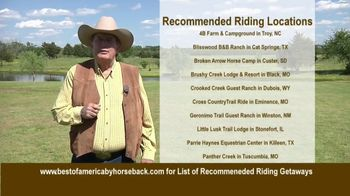 Best of America by Horseback TV Spot, 'Recommended Riding Getaways' - Thumbnail 8