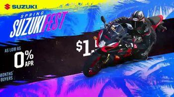 Spring Suzuki Fest TV Spot, 'Financing and Customer Cash' - Thumbnail 8