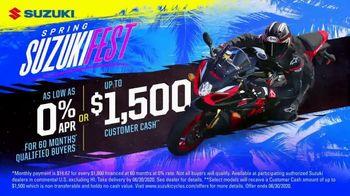 Spring Suzuki Fest TV Spot, 'Financing and Customer Cash' - Thumbnail 9