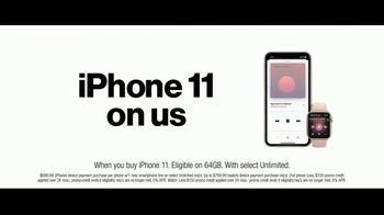 Verizon Unlimited TV Spot, 'Unlimited Built Right:  iPhone 11 + Apple Watch' - Thumbnail 7