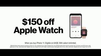 Verizon Unlimited TV Spot, 'Unlimited Built Right:  iPhone 11 + Apple Watch' - Thumbnail 8