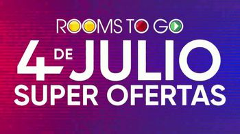 Rooms to Go 4 de Julio Súper Ofertas TV Spot, 'Sofá y loveseat' [Spanish] - Thumbnail 6