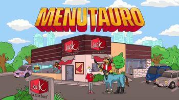 Jack in the Box Southwest Cheddar Cheeseburger Combo TV Spot, 'Menutauro' [Spanish] - Thumbnail 1