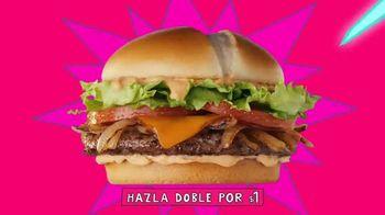 Jack in the Box Southwest Cheddar Cheeseburger Combo TV Spot, 'Menutauro' [Spanish] - Thumbnail 4