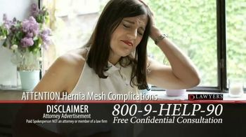 Langdon & Emison Attorneys at Law TV Spot, 'Attention: Hernia Mesh Complications' - Thumbnail 1