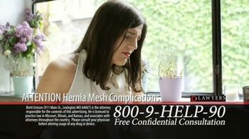Langdon & Emison Attorneys at Law TV Spot, 'Attention: Hernia Mesh Complications' - Thumbnail 2