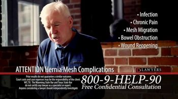 Langdon & Emison Attorneys at Law TV Spot, 'Attention: Hernia Mesh Complications' - Thumbnail 4