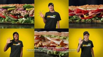Subway $5 Footlongs TV Spot, \'When You Buy Two: BBQ Rib\'