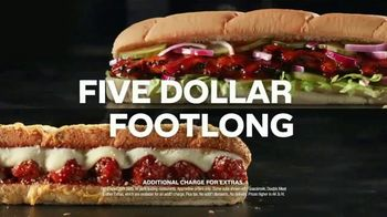 Subway $5 Footlongs TV Spot, 'When You Buy Two: BBQ Rib' - Thumbnail 4