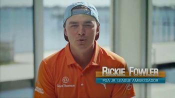 PGA Junior League Golf TV Spot, 'Warren Fisher, Teen Reporter' Feat. Steph Curry, Rickie Fowler - Thumbnail 7