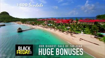 Sandals Resorts Black Friday in July TV Spot, 'Love is All You Need: $500 Spa Credit' - Thumbnail 2