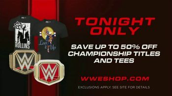 WWE Shop TV Spot, 'Energize Your Style: Up to 50 Percent Off Championship Titles & Tees' Song by Easy McCoy - Thumbnail 7
