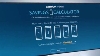 Spectrum Mobile TV Spot, 'Easy to Save: Mix & Match and Savings Calculator' - Thumbnail 3