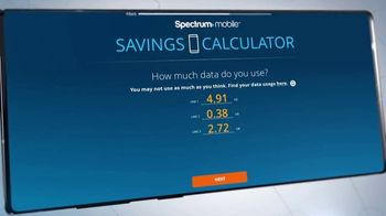 Spectrum Mobile TV Spot, 'Easy to Save: Mix & Match and Savings Calculator' - Thumbnail 4