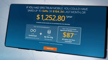 Spectrum Mobile TV Spot, 'Easy to Save: Mix & Match and Savings Calculator' - Thumbnail 5