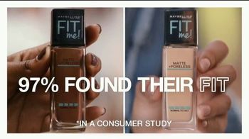 Maybelline Fit Me! Matte + Poreless TV Spot, 'Blurs Pores, Stops Shine' - Thumbnail 6