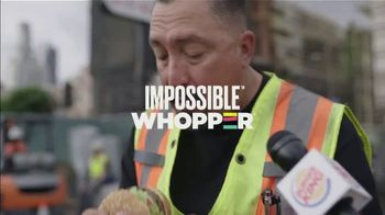 Burger King Impossible Whopper TV Spot, 'Uber Eats: Construction Workers'