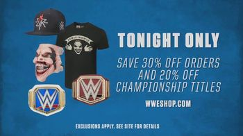 WWE Shop TV Spot, '30 Percent Off Orders and 20 Percent Off Titles' Song by SATV Music - Thumbnail 8