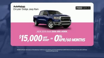 AutoNation Power Days TV Spot, 'Pink Plates: 2019 Ram 1500' Song by Andy Grammer - Thumbnail 6