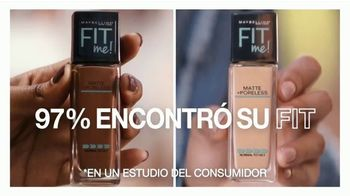 Maybelline New York Fit Me! Matte + Poreless Foundation TV Spot, 'Se adapta' [Spanish] - Thumbnail 6
