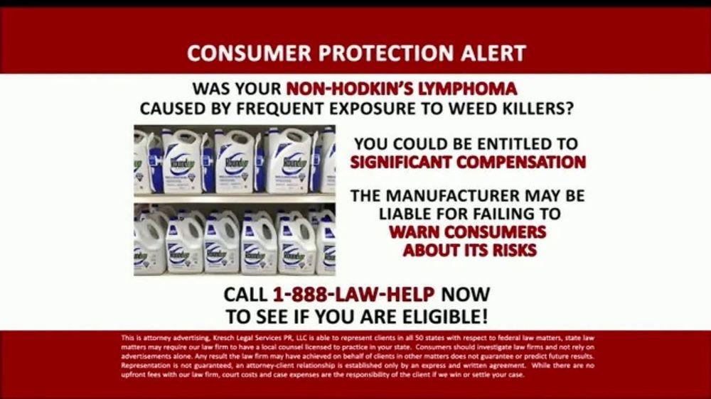 Kresch Legal Services TV Commercial, 'Consumer Protection Alert: Non-Hodgkins Lymphoma'