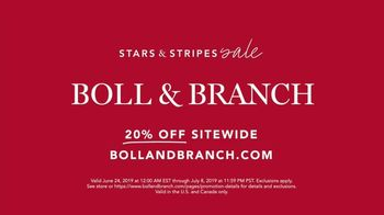 Boll & Branch Stars & Stripes Sale TV Spot, 'Best Sleep Possible' - Thumbnail 10