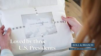 Boll & Branch Stars & Stripes Sale TV Spot, 'Best Sleep Possible' - Thumbnail 6