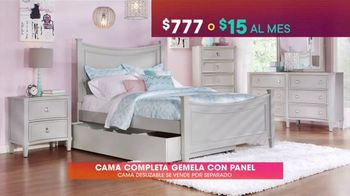 Rooms to Go Kids & Teens TV Spot, 'Ofertas candentes: cama completa gemela con panel' [Spanish] - Thumbnail 3