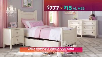 Rooms to Go Kids & Teens TV Spot, 'Ofertas candentes: cama completa gemela con panel' [Spanish] - Thumbnail 4