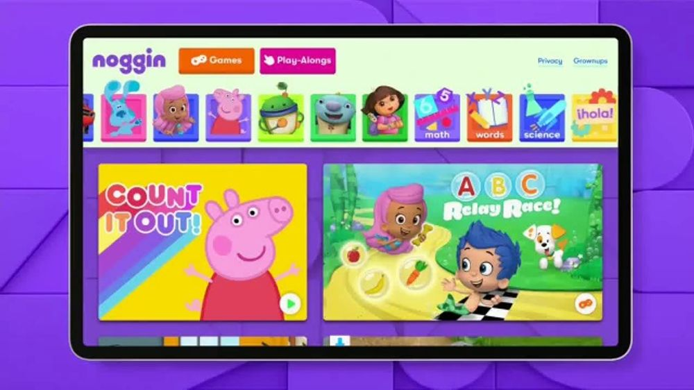 Noggin TV Commercial, 'Learn With Their Favorite Characters'