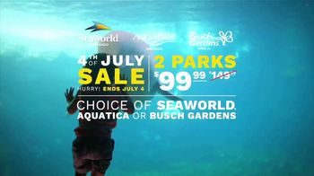 SeaWorld 4th of July Sale TV Spot, 'Feels Amazing: Two Parks' - Thumbnail 8