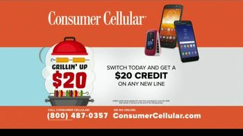 Consumer Cellular TV Spot, 'Better Value: Fishing: Grillin' Up $20 Credit: Plans $20+ a Month' - Thumbnail 10