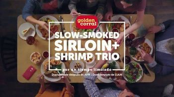 Golden Corral Slow-Smoked Sirloin and Shrimp Trio TV Spot, 'Tres amores' [Spanish]