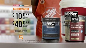 BEHR Paint  TV Spot, 'Red, White and Blue Savings: Tough as Walls' - Thumbnail 8